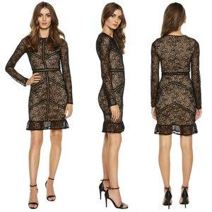 Bardot Black Sasha Long Sleeve Lace Dress …